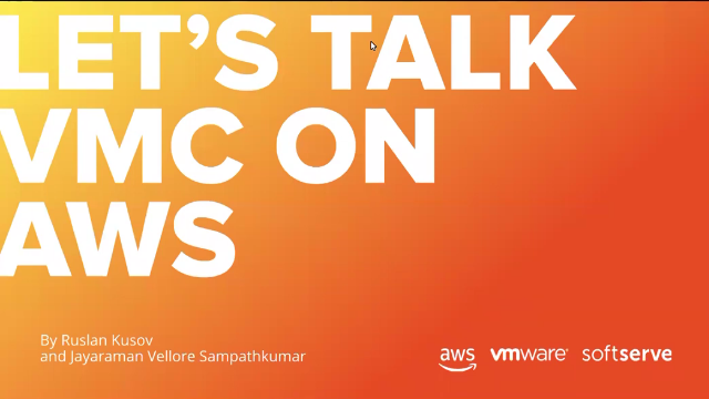 VMC & AWS: Better Together