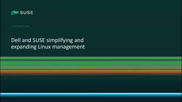 Dell and SUSE simplifying and expanding Linux management