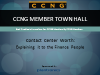 Contact Center Worth, a CCNG Member Town Hall
