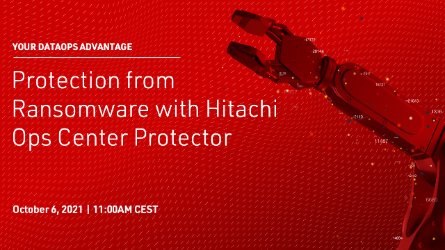 Protection from Ransomware with Hitachi Ops Center Protector