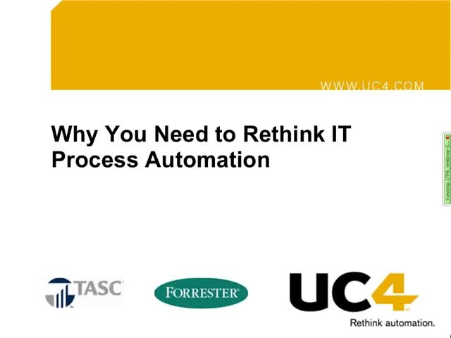 Why You Need to Rethink IT Process Automation