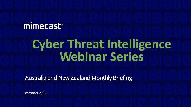 Ep 9 - Australia and NZ Cyber Threat Intelligence Briefings