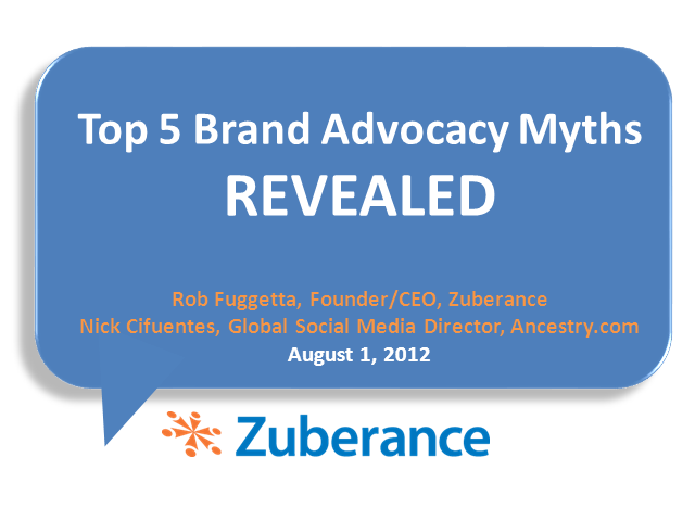 Top 5 Myths of Brand Advocacy REVEALED