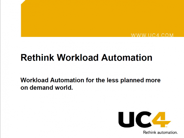 Workload Automation For The Less Planned More On-Demand World