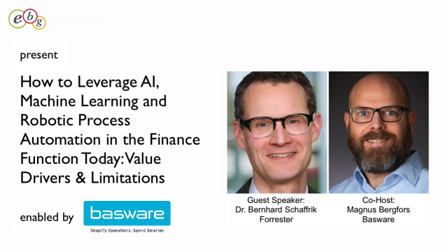 How to Leverage AI, Machine Learning and RPA in Finance – featuring Forrester