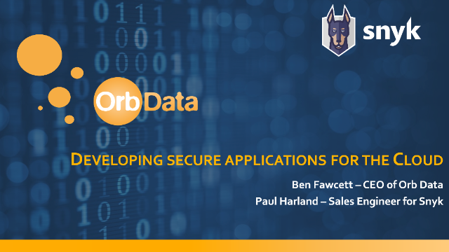 Developing secure applications for the Cloud