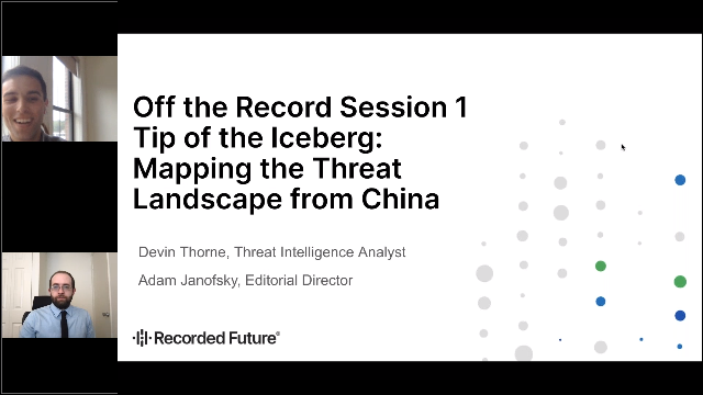 Tip of the Iceberg: Mapping the Threat Landscape from China
