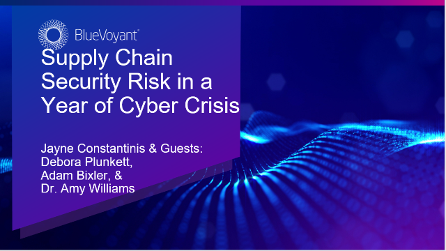Supply Chain Security Risk in a Year of Cyber Crisis