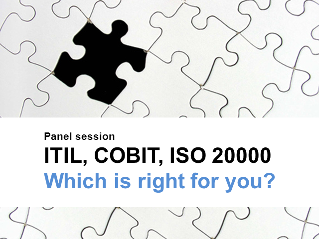 ITIL, COBIT, ISO 20000 - Which is right for you?