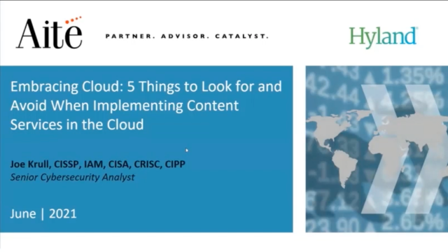Embracing Cloud: 5 Things to Look for-Implementing Content Services in the Cloud