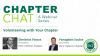 Chapter Chat:  Volunteering with Your Chapter