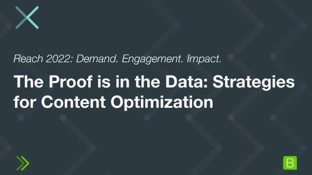 The Proof is in the Data: Strategies for Content Optimization