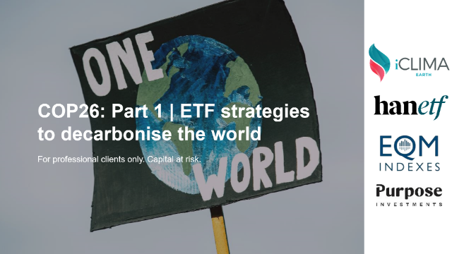 COP26: Part 1 | ETF strategies to decarbonise the world