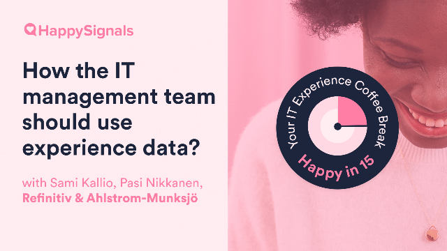 How should IT management teams be using Experience Data?