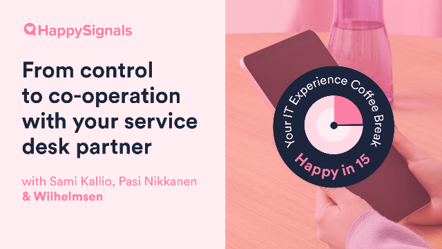 How to move from control to cooperation with your Service Providers