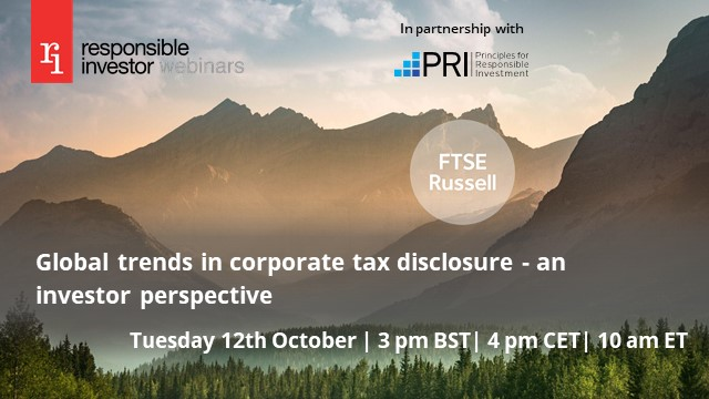 Global trends in corporate tax disclosure - an investor perspective