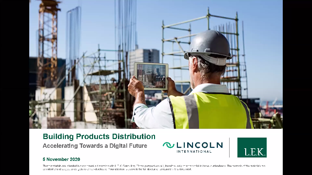 Building Products Distribution — Accelerating Towards a Digital Future