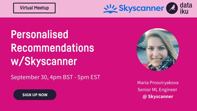 [Virtual Meetup] Personalised Recommendations w/ Skyscanner