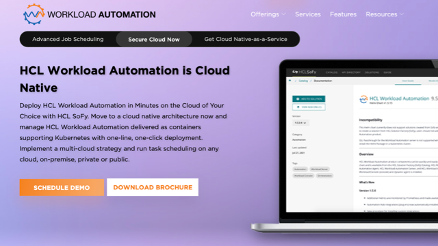 HCL Workload Automation is Cloud Native