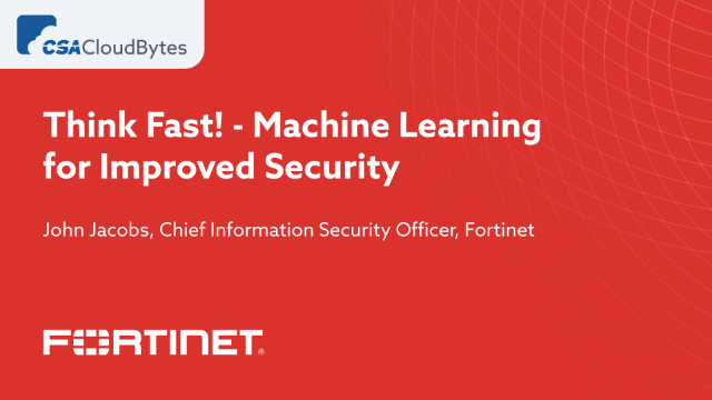 Think Fast! - Machine Learning for Improved Security
