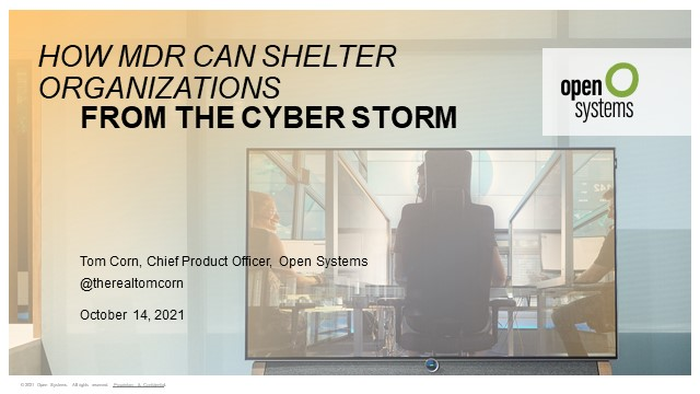 How MDR Can Shelter Organizations From the Cyber Storm