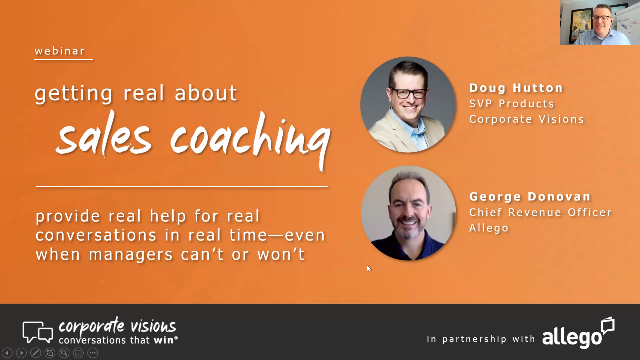 Getting Real About Sales Coaching: Help for Real Conversations in Real Time