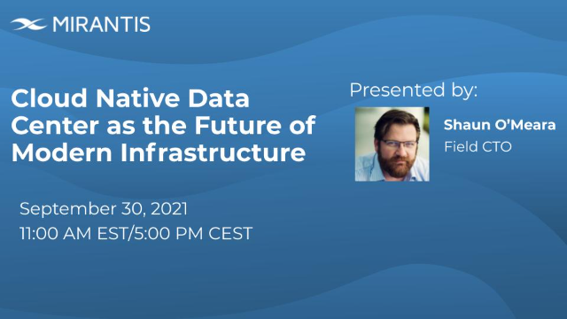Cloud Native Data Center as the Future of Modern Infrastructure.