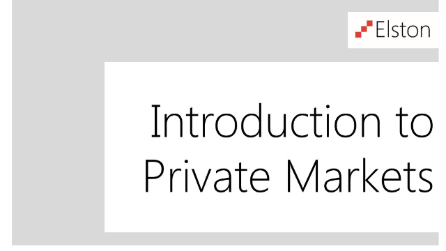 CPD: Introduction to Private Markets