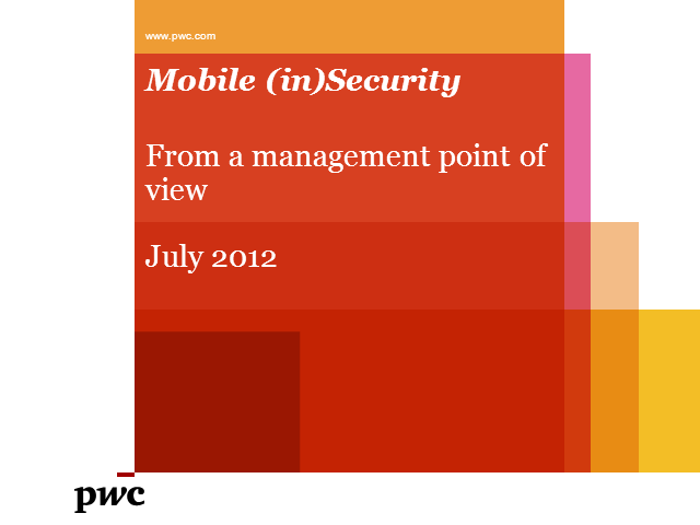 Mobile Security: From a Management Perspective