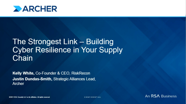 The Strongest Link – Building Cyber Resilience in Your Supply Chain