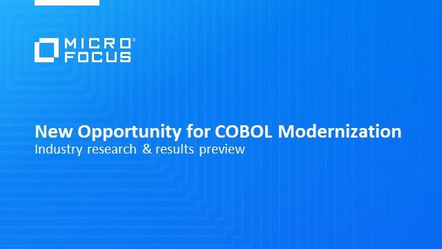 Capturing COBOL: A closer look at early research results from the COBOL Survey