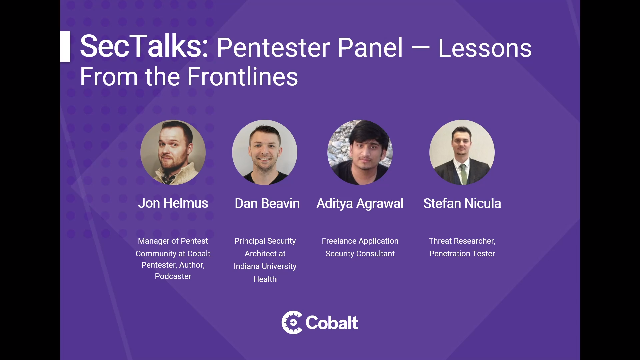 Pentester Panel: Lessons from the Frontlines