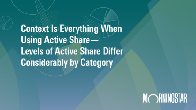 Active Share - Context is Everything