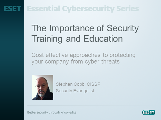 The Importance of Security Training and Education