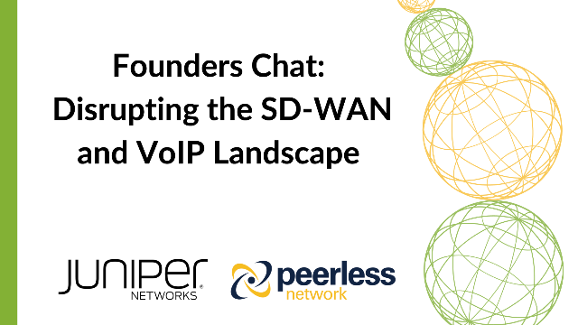 Founders Chat - Disrupting the SD-WAN and VoIP Landscape