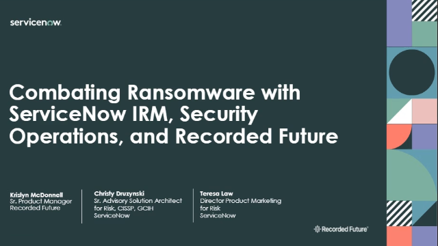 Combating Ransomware with ServiceNow
