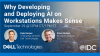 Why Developing and Deploying AI on Workstations Makes Sense