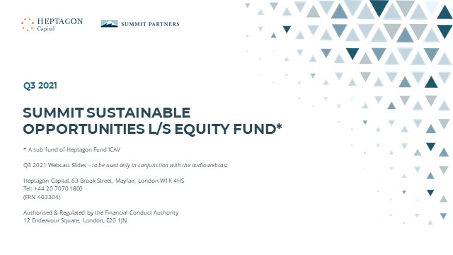 Summit Sustainable Opportunities L/S Equity Fund Q3 2021 Webcast