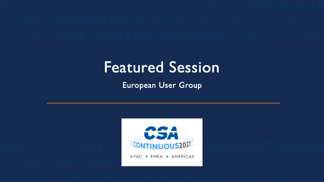 Featured Session: European User Group