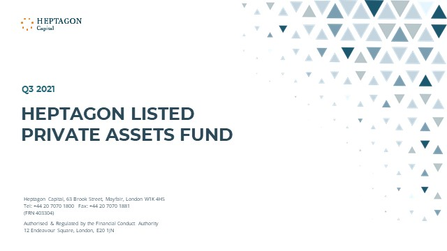 Heptagon Listed Private Assets Fund Q3 2021 Webcast