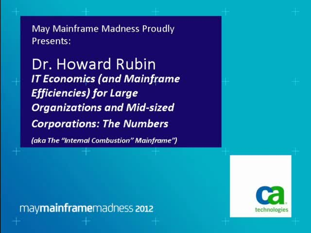 IT Economics (and Mainframe Efficiencies)