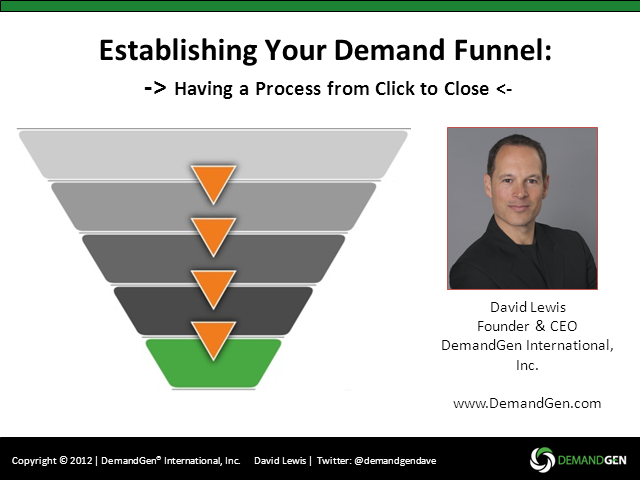 Establishing Your Demand Funnel: Having a Process from Click to Close