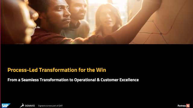 Process-Led Transformation for the Win