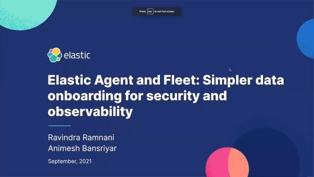Elastic Agent and Fleet: Simpler data onboarding for security and observability