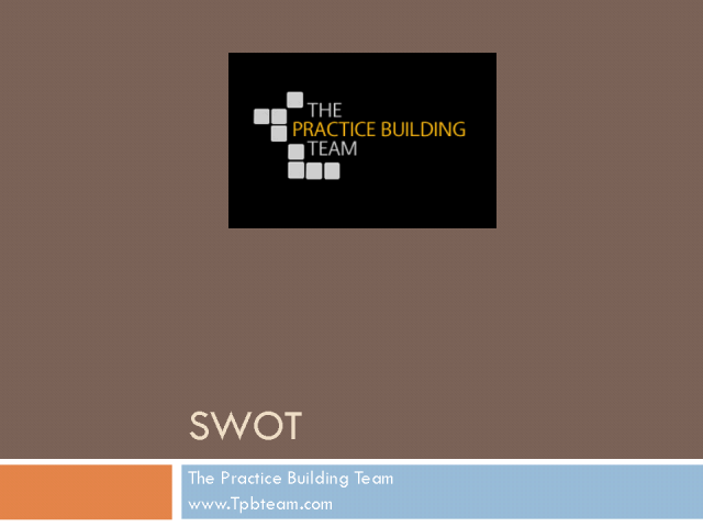 SWOT - Strengths,Weaknesses, Opportunities, and Threats -