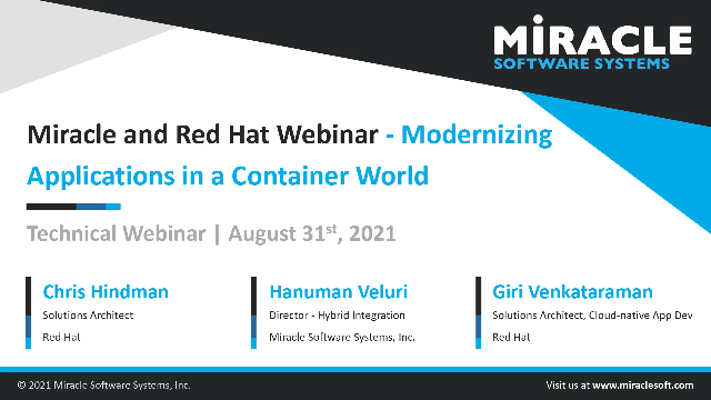 Modernizing Applications in a Container World