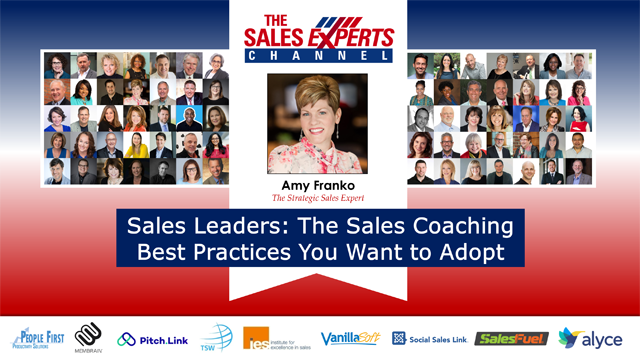 Sales Leaders: The Sales Coaching Best Practices You Want to Adopt