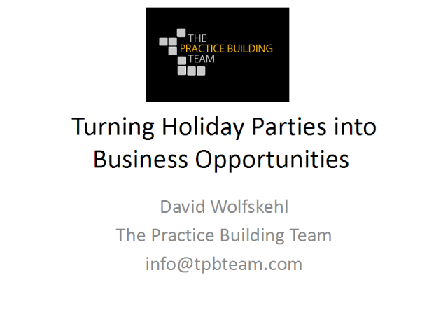 Turning Holiday Parties into Business Opportunities