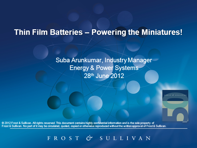 Thin Film Batteries – Powering the Miniatures!