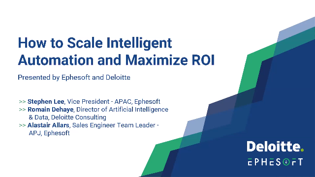 How to Scale Intelligent Automation and Maximize ROI